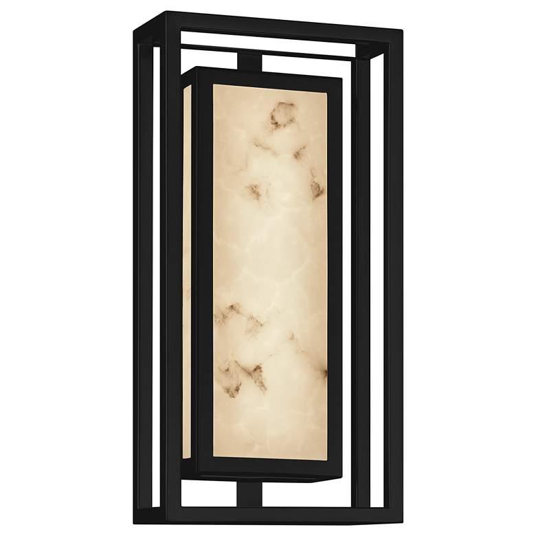 "LumenAria™ Bayview 15""H Black LED Outdoor Wall Light"