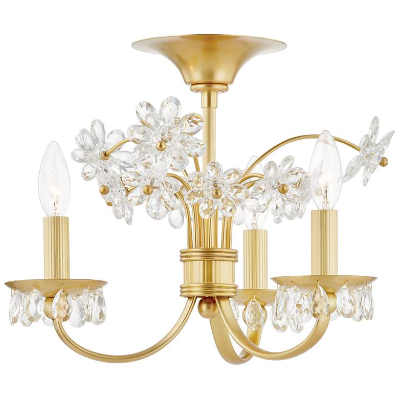 "Beaumont 19 1/2"" Wide Aged Brass 3-Light LED Ceiling Light"