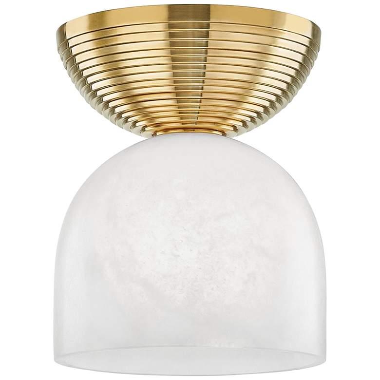 "Hudson Valley Aragon 8"" Wide Aged Brass LED Ceiling Light"
