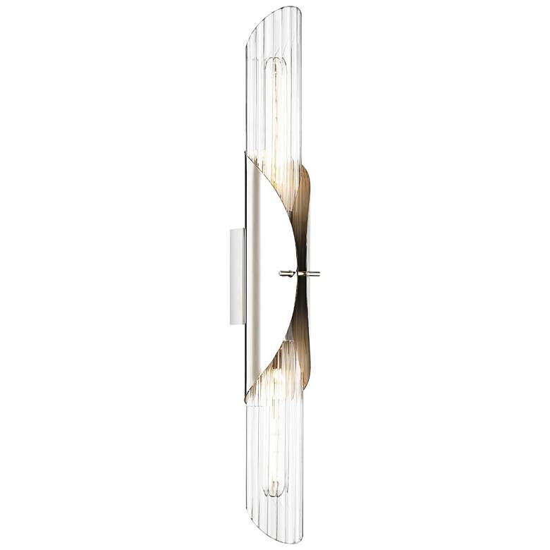 "Lefferts 26"" High Polished Nickel 2-Light Wall Sconce"