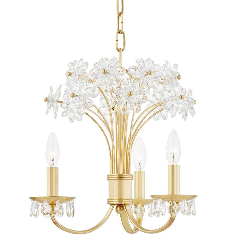 """Beaumont 19 1/2"""" Wide Aged Brass 3-Light LED Chandelier"""