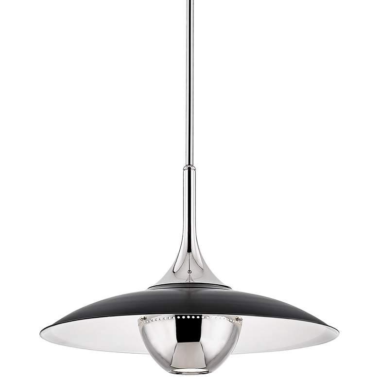 "Hudson Valley Clarkson 24""W Polished Nickel Pendant Light"