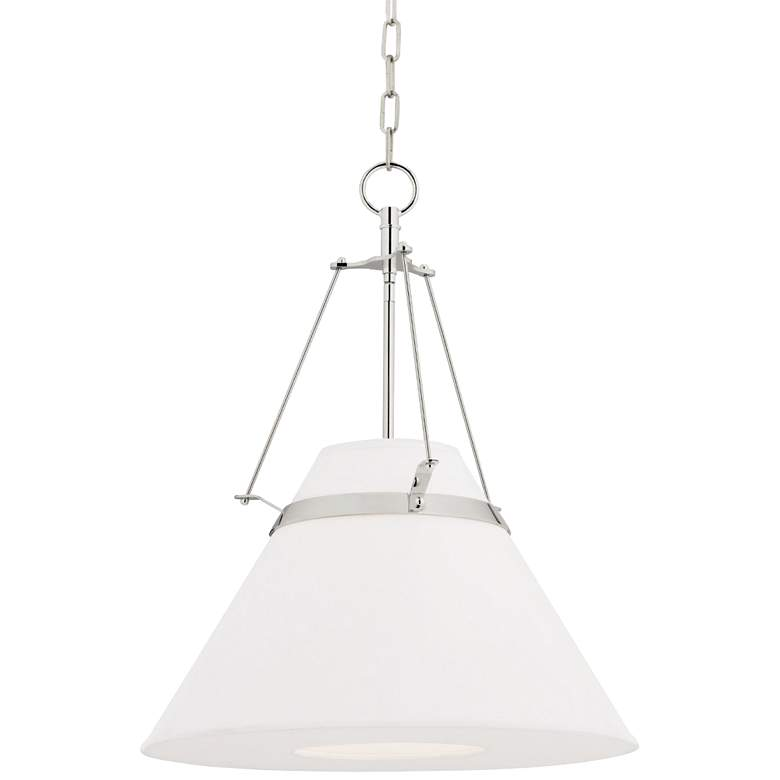 """Hudson Valley Clemens 20 1/2""""W Polished Nickel Pendant"""