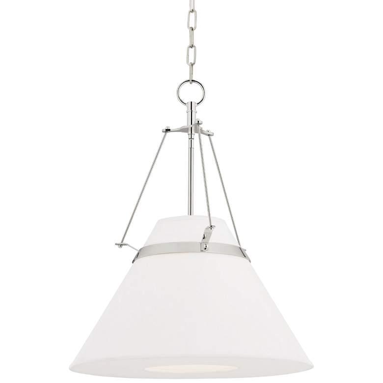 "Hudson Valley Clemens 20 1/2""W Polished Nickel Pendant Light"