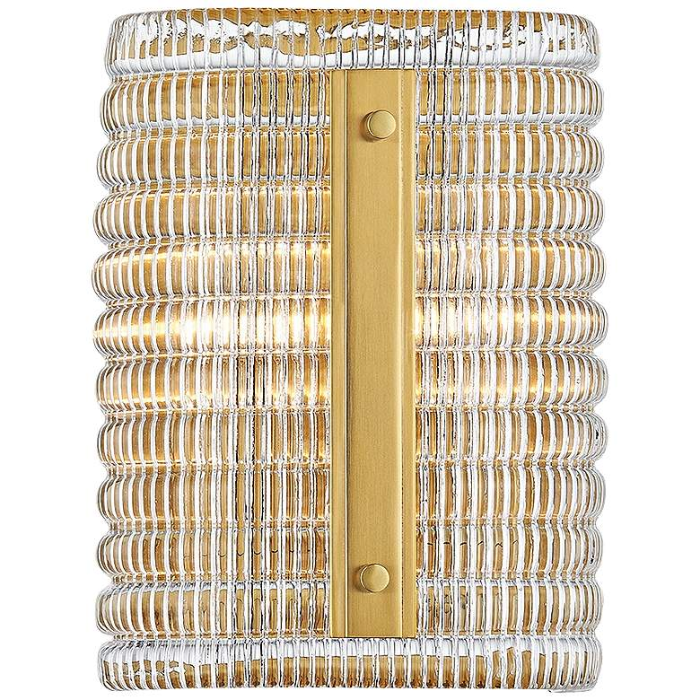 """Hudson Valley Athens 9 1/2"""" High Aged Brass Wall Sconce"""