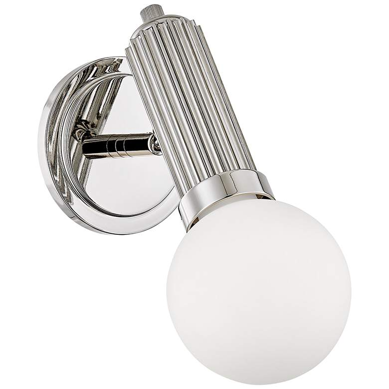 "Hudson Valley Reade 11 3/4""H Polished Nickel LED Wall Sconce"