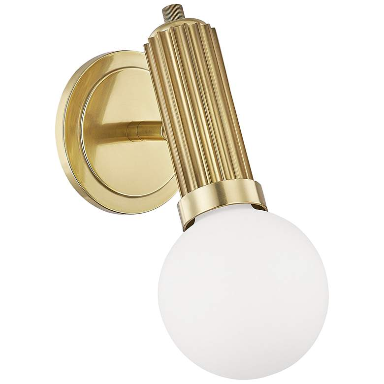 """Hudson Valley Reade 11 3/4"""" High Aged Brass LED Wall Sconce"""