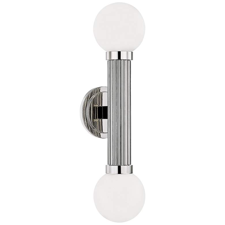"""Reade 21 3/4"""" High Polished Nickel 2-Light LED Wall Sconce"""