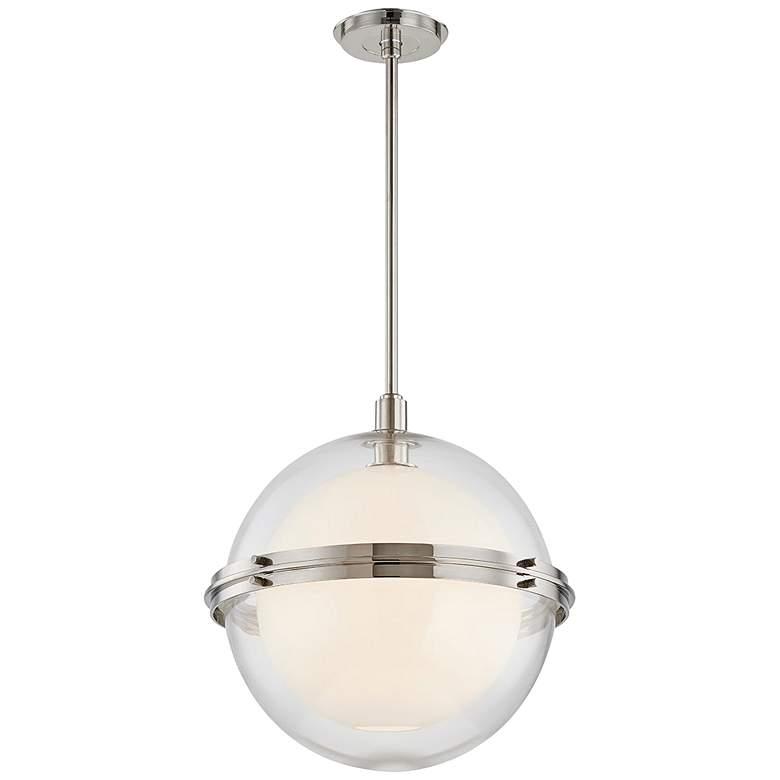 "Hudson Valley Northport 18""W Polished Nickel Pendant Light"