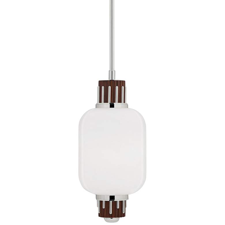 """Peekskill 10 3/4"""" Wide Polished Nickel Mini Pendant Light"""