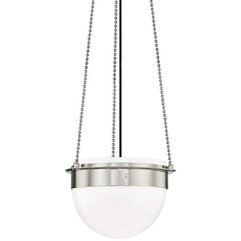 "Hudson Valley Silo 14 3/4""W Polished Nickel Pendant Light"