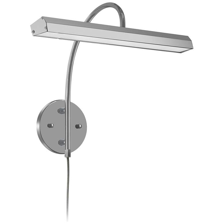 """Staccato 16 1/4"""" Wide Satin Chrome LED Picture Light"""