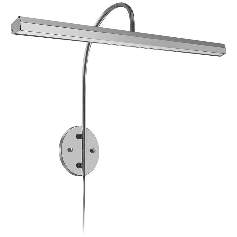 """Staccato 24 1/4"""" Wide Satin Chrome LED Picture Light"""