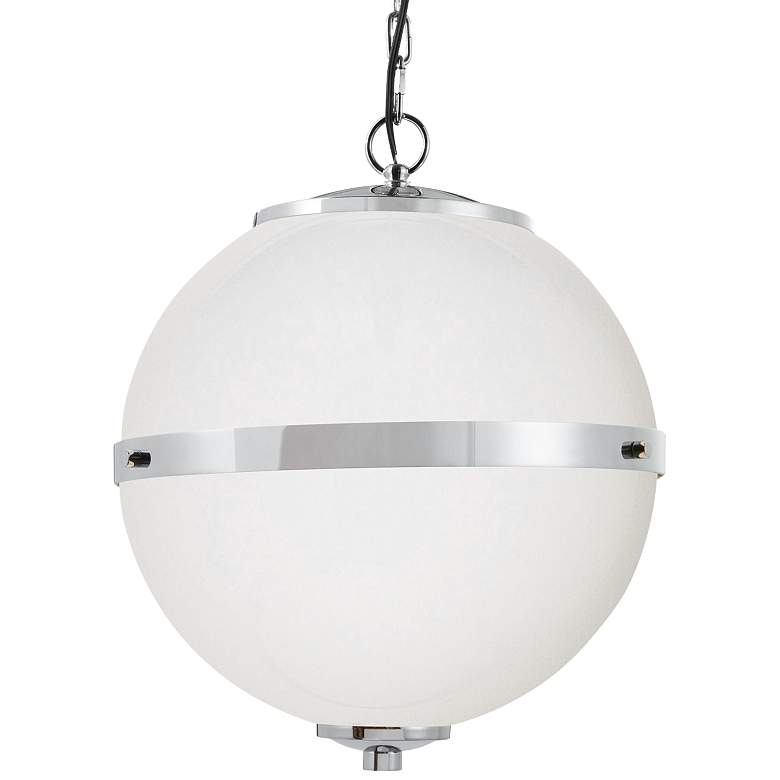 "Fusion™ Imperial 17""W Chrome Opal Glass Pendant Light"