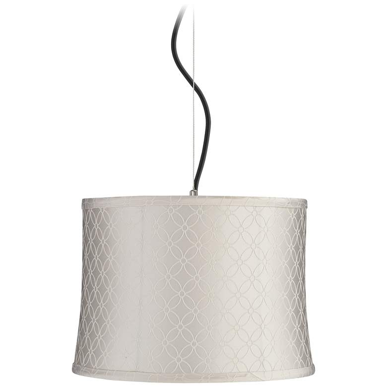 """Off-White An Qing Shade 14"""" Wide Pendant Light"""