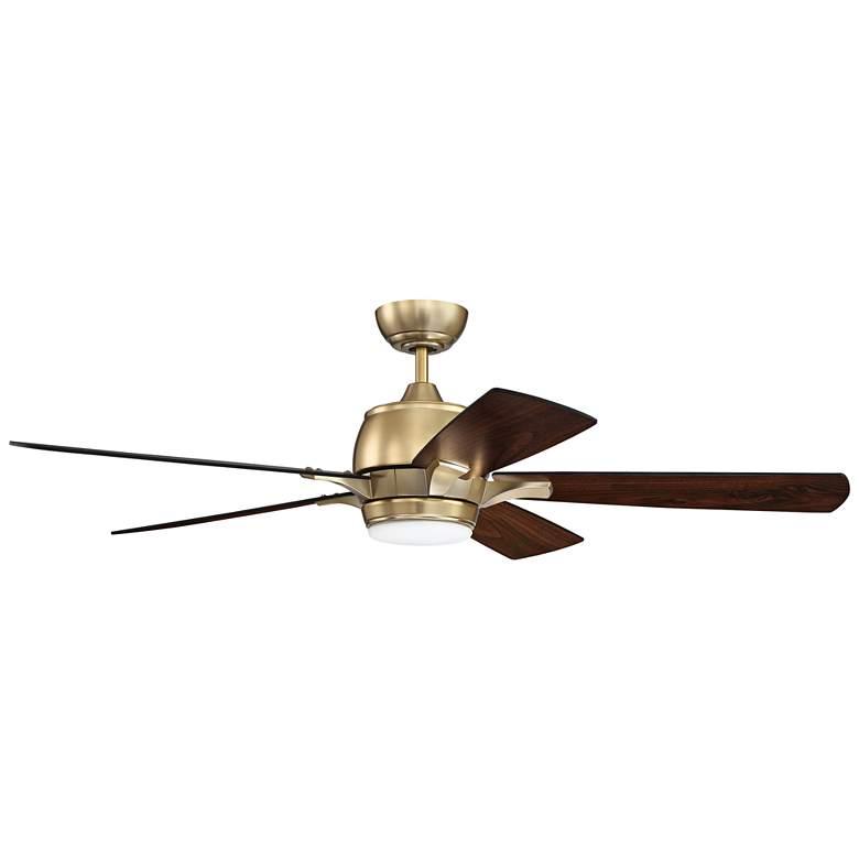 "52"" Craftmade Stellar Satin Brass LED Ceiling Fan"