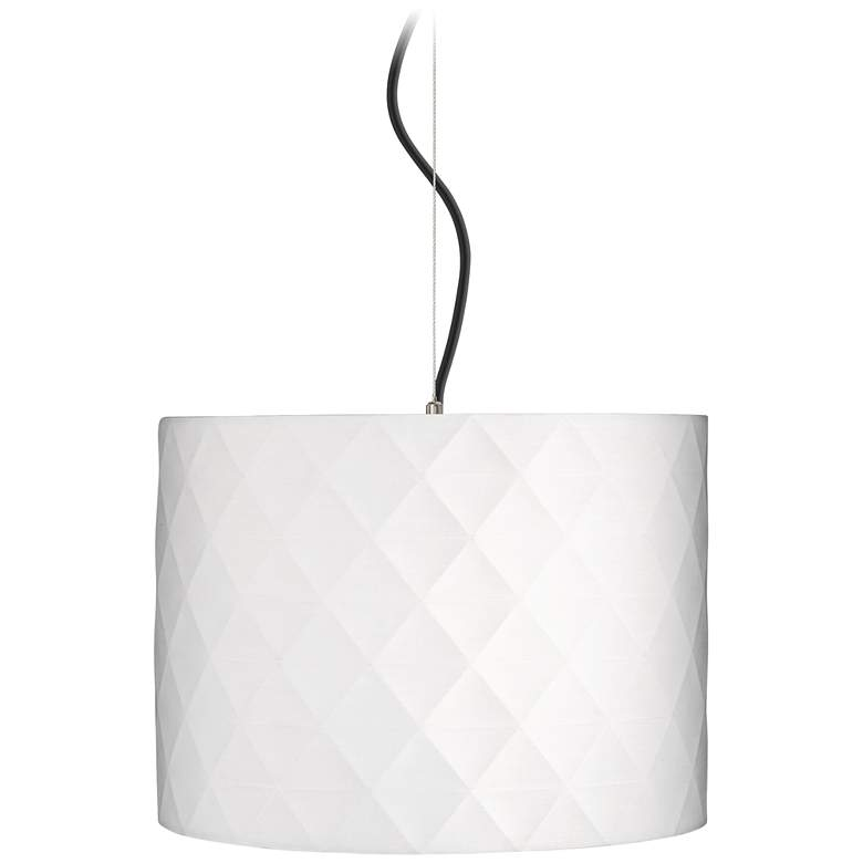 "Off-White Diamond Shade 15"" Wide Pendant Light"