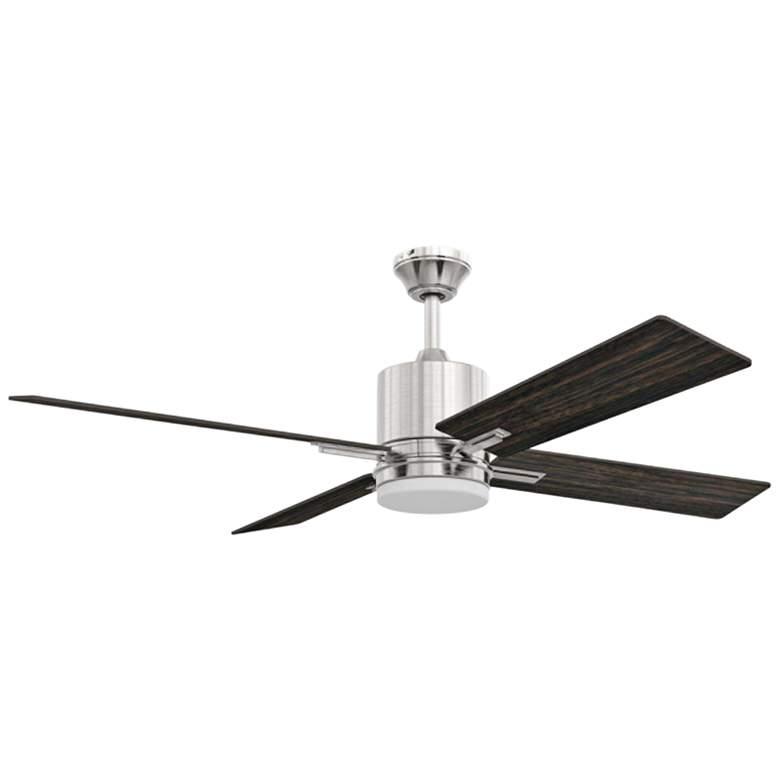 "52"" Craftmade Teana Brushed Polished Nickel LED Ceiling Fan"