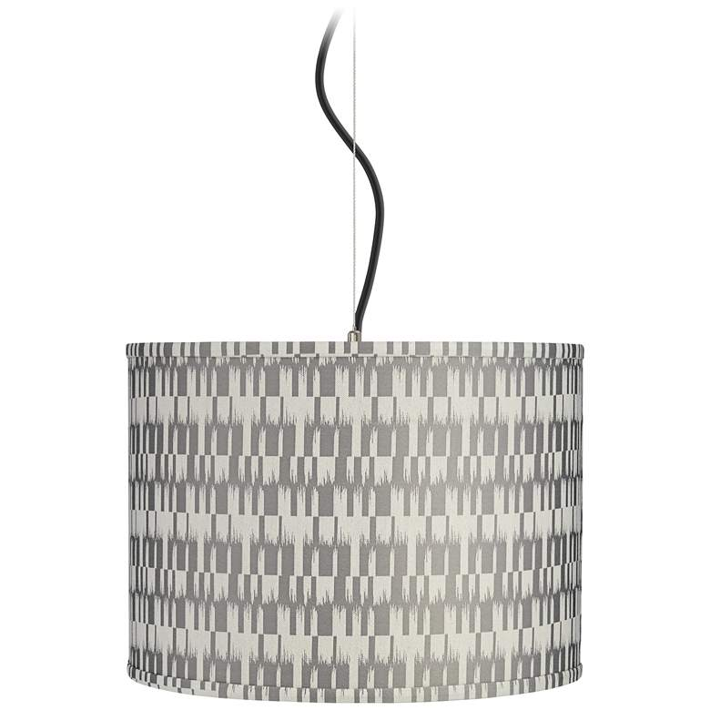"Gray and Cream Shade 15"" Wide Pendant Light"