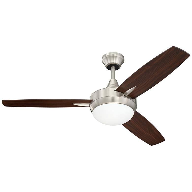 "48"" Craftmade Targas Brushed Polished Nickel LED Ceiling Fan"