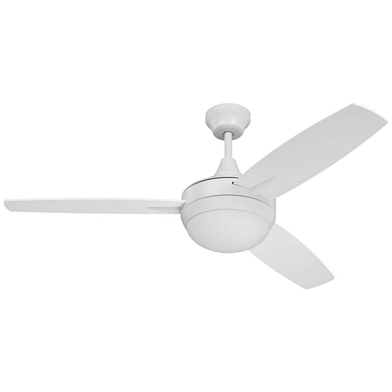 "48"" Craftmade Targas White LED Ceiling Fan"