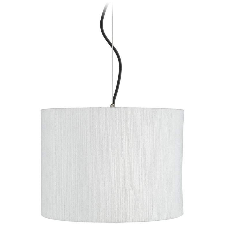 "White Plastic Weave Shade 15"" Wide Pendant Light"