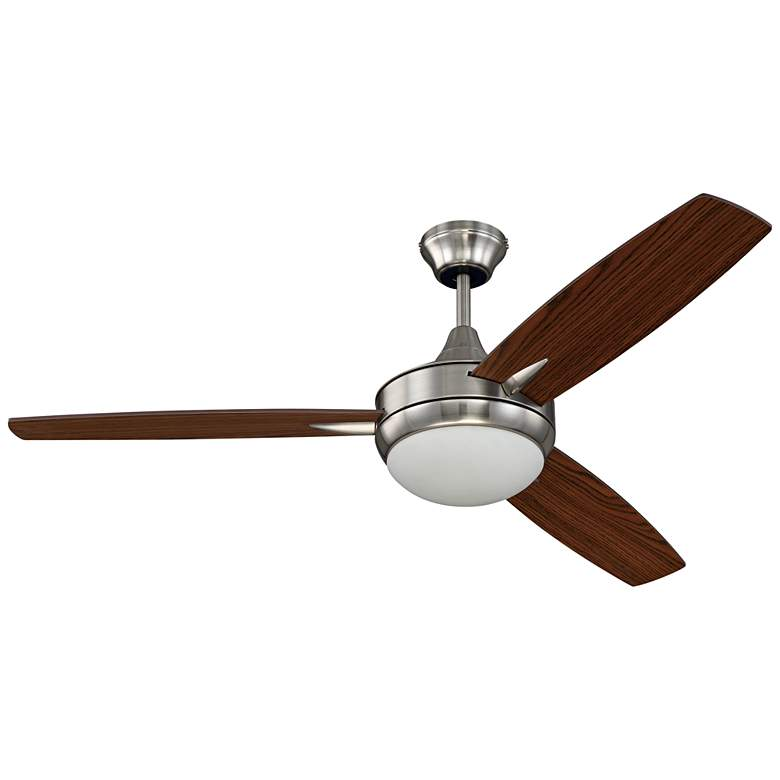 "52"" Craftmade Targas Brushed Polished Nickel LED Ceiling Fan"