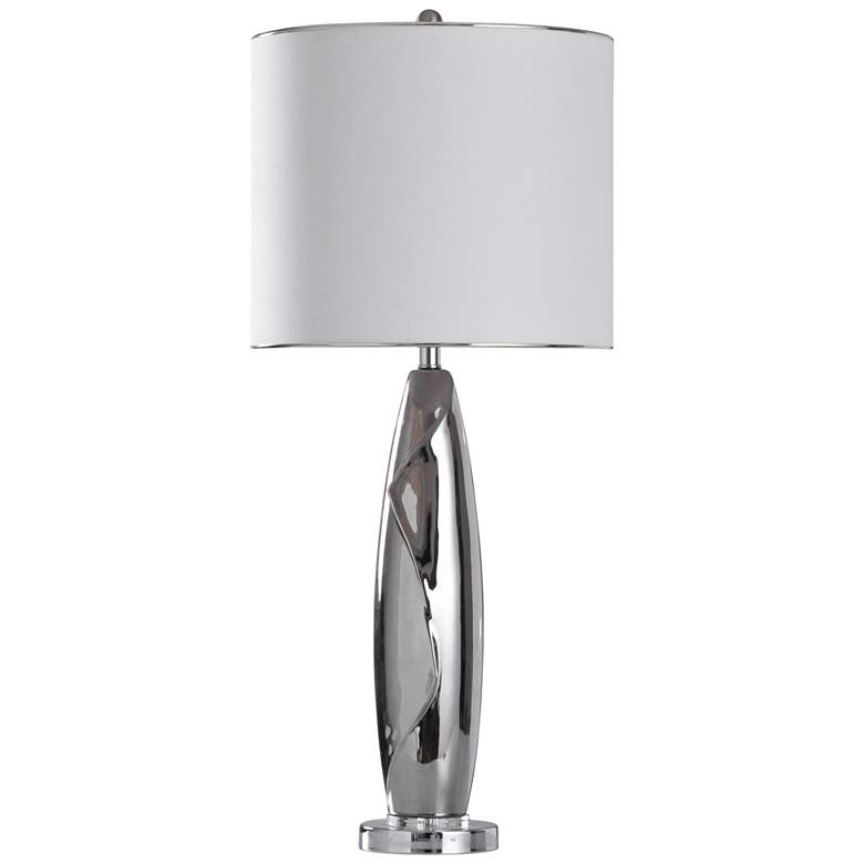 Guildford Silver Glaze Fluid Ceramic Table Lamp