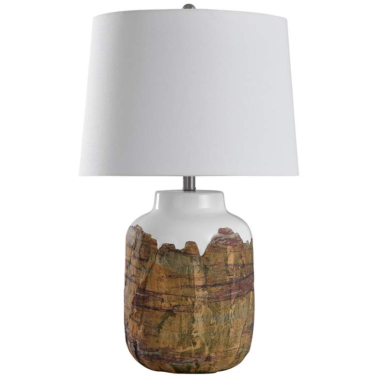Canyon Rustic Earthtone Textured Ceramic Table Lamp