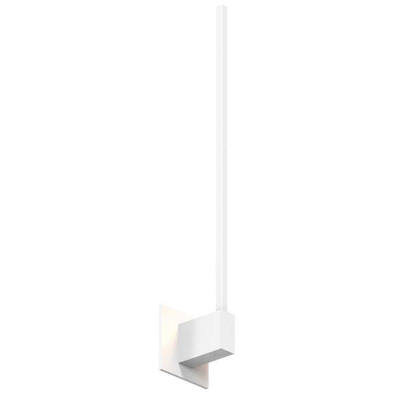 "Koncept Z-Bar 24"" High Matte White End-Mount LED Wall Sconce"