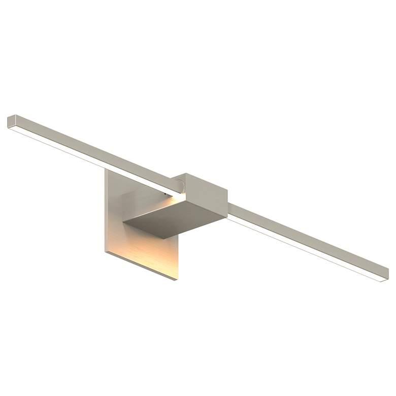 "Z-Bar 24"" High Brushed Nickel Center-Mount LED Wall Sconce"