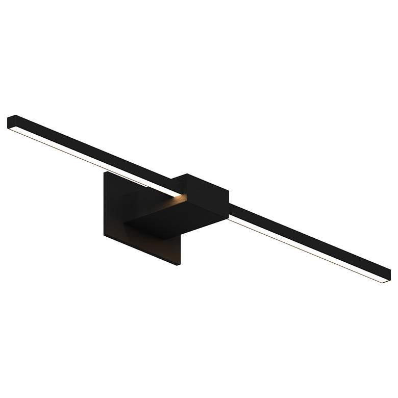 """Koncept Z-Bar 24""""H Matte Black Center-Mount LED Wall Sconce"""