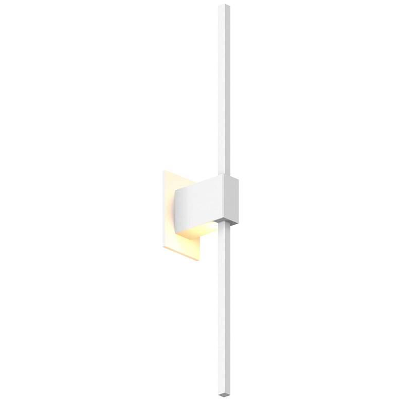 "Koncept Z-Bar 24""H Matte White Center-Mount LED Wall Sconce"