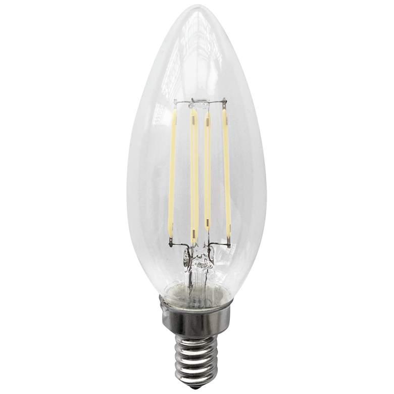 40W Equivalent 4W Clear E12 Base Filament LED Light Bulb