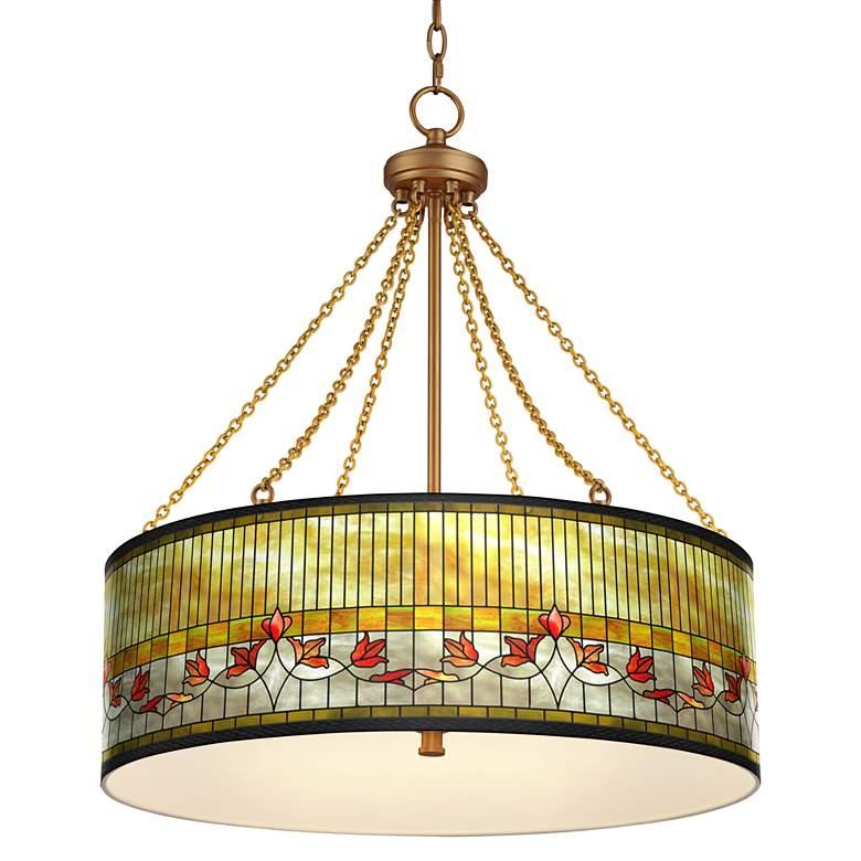 Tiffany Lily Dana Antique Brass Pendant Light