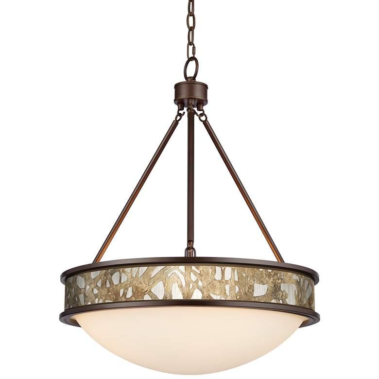 "Organic Nest Lamont 20 1/2"" Wide Bronze Pendant Light"