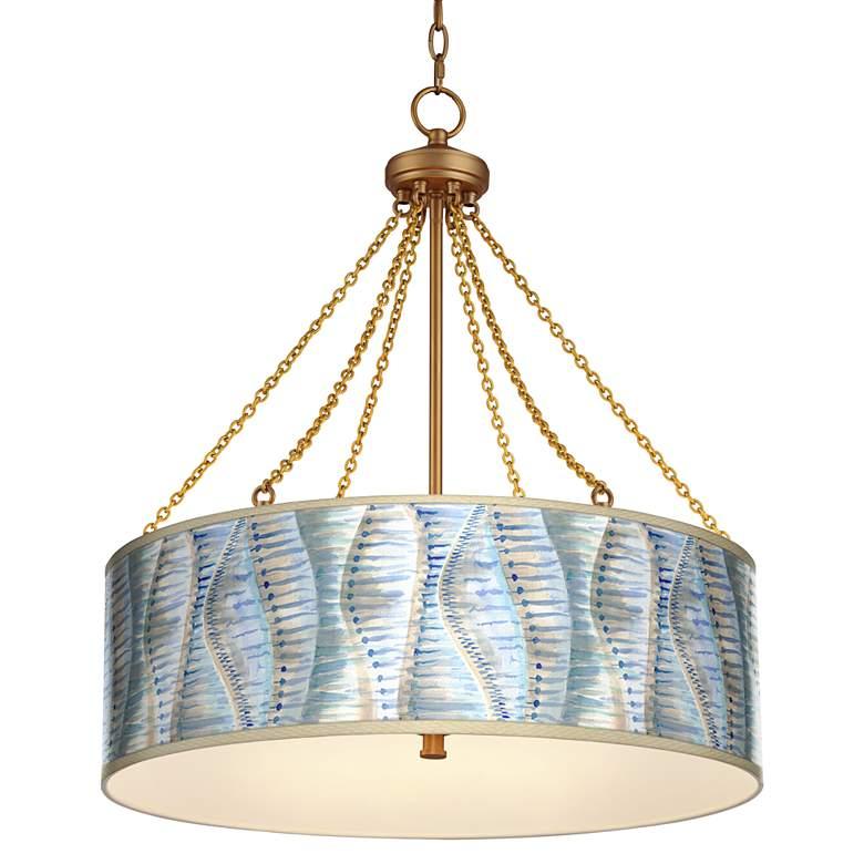 Siren Dana Antique Brass Pendant Light