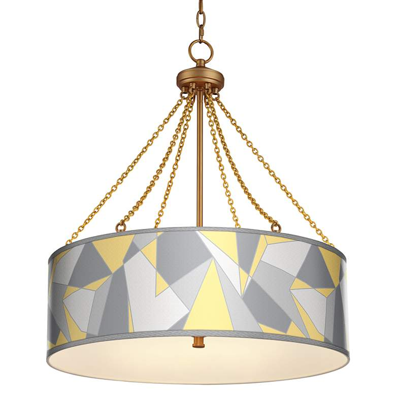 Modern Mosaic II Dana Antique Brass Pendant Light