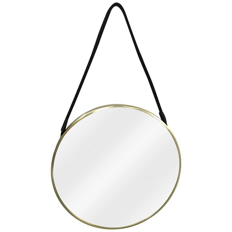 """Crestview Collection Hadley Brass 30"""" Round Wall Mirror"""