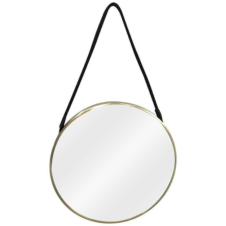 """Crestview Collection Hadley Brass 24"""" Round Wall Mirror"""