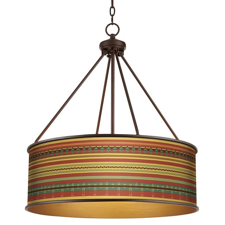 """Southwest Desert Yulie 24 3/4"""" Wide Bronze Pendant Light"""