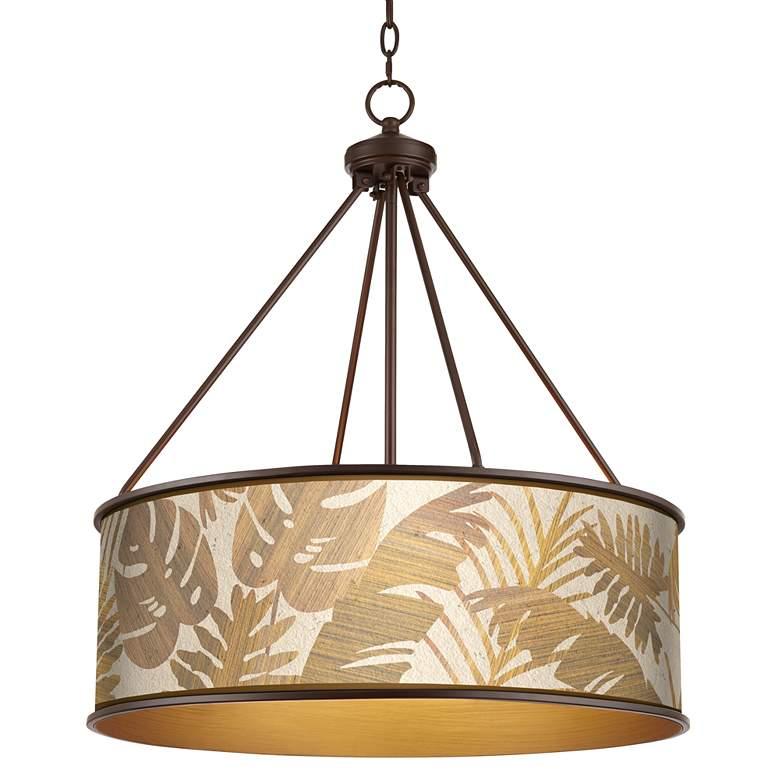 "Tropical Woodwork Yulie 24 3/4"" Wide Bronze Pendant Light"
