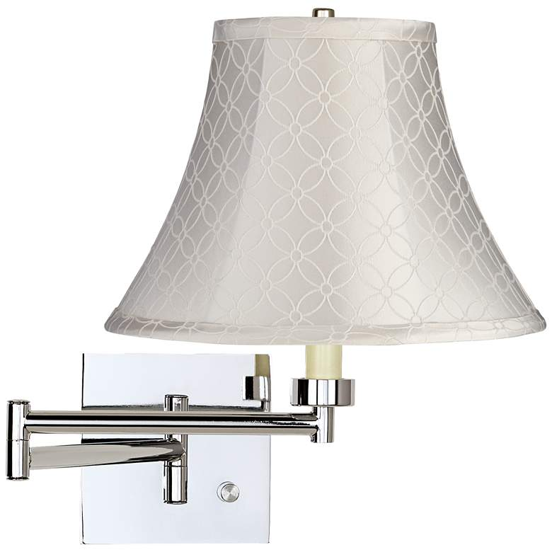 An Qing Bell Chrome Plug-In Swing Arm Wall Lamp
