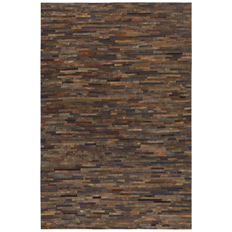 Uttermost Malone 5'x8' Rust Brown Patchwork Area Rug