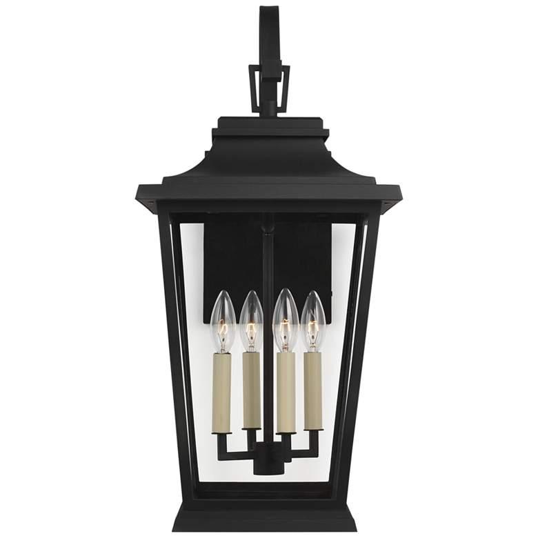 """Feiss Warren 25 3/4"""" High Black 4-Light Outdoor Wall Light"""