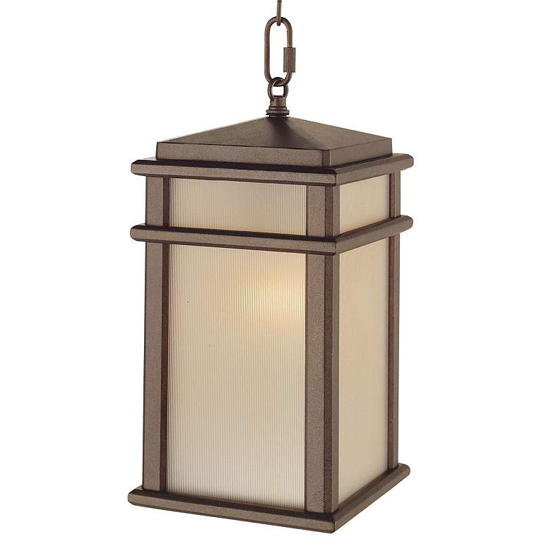 "Feiss Mission Lodge 13 1/2""H Hanging Outdoor Light"
