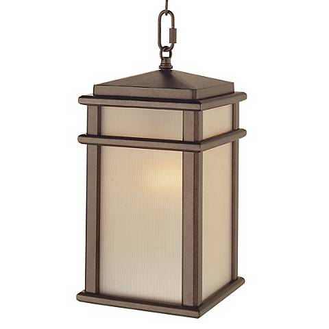 """Feiss Mission Lodge 13 1/2""""H Hanging Outdoor Light"""