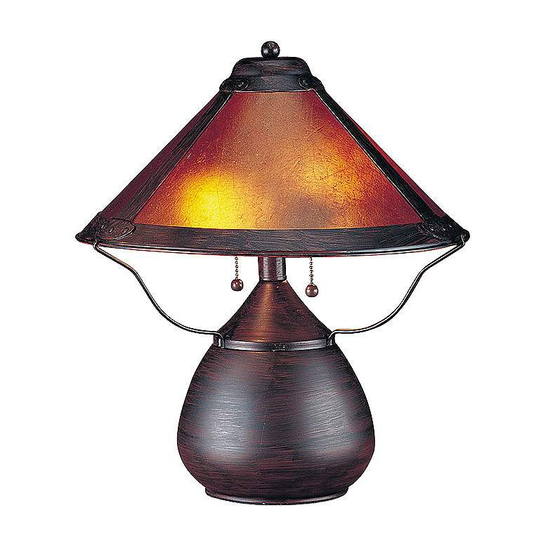 """Mission-Style 17"""" High Mica Accent Table Lamp"""