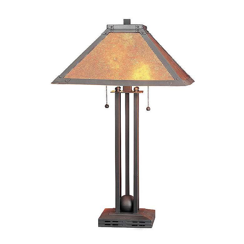 Metal Mica Table Lamp