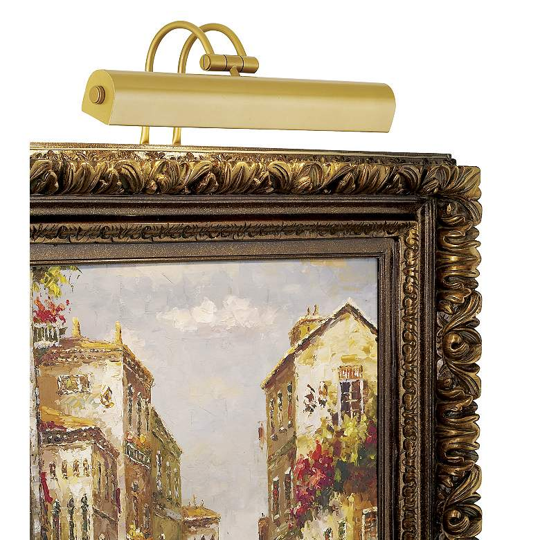 """Light Gold 16"""" Wide Plug-In Picture Light"""